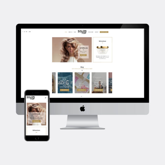 Salon TOF - Webdesign